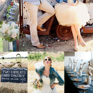 Cute denim wedding ideas