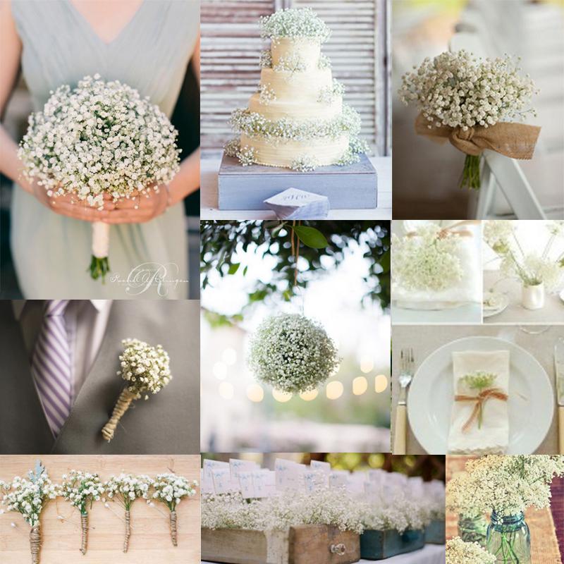 Baby&#8217;s breath wedding decoration ideas<br />かすみ草を使ったウェディングデコレーション01