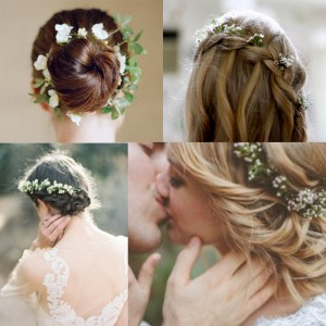 Inspiration for bridal hair with flower <br />花を使ったヘアースタイルにインスピレーション