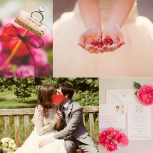 pink spring wedding inspirationboard
