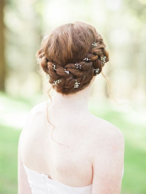 Baby's breath wedding hairstyle2
