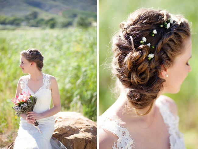 Baby's breath wedding hairstyle5