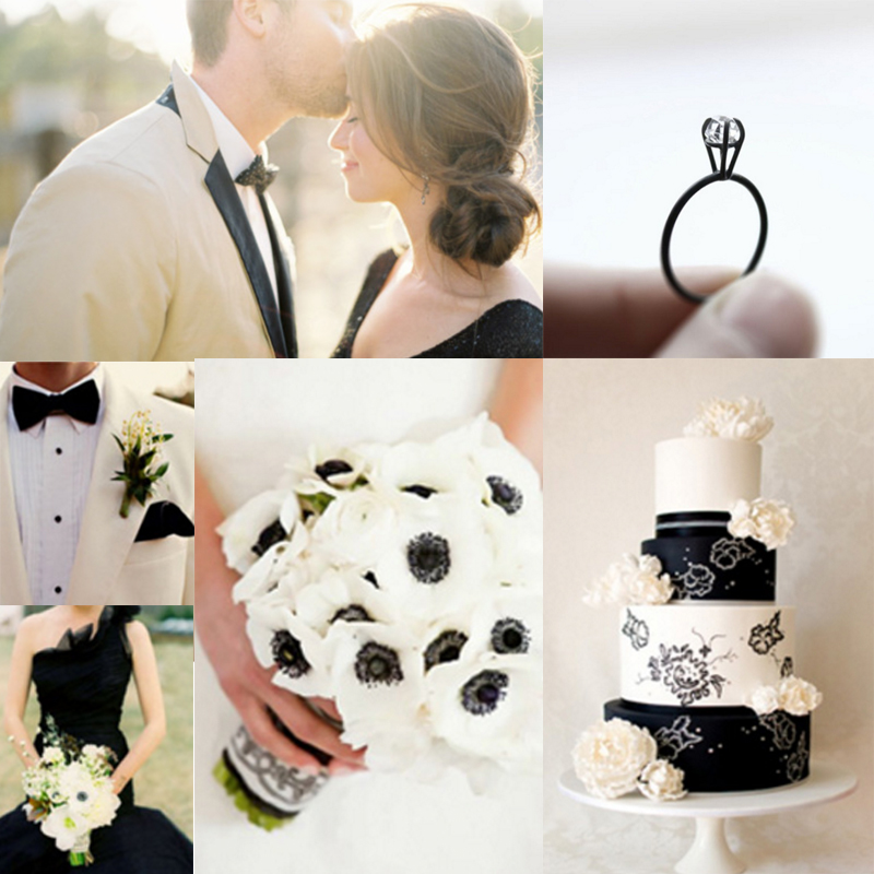 Inspiration for black romantic wedding