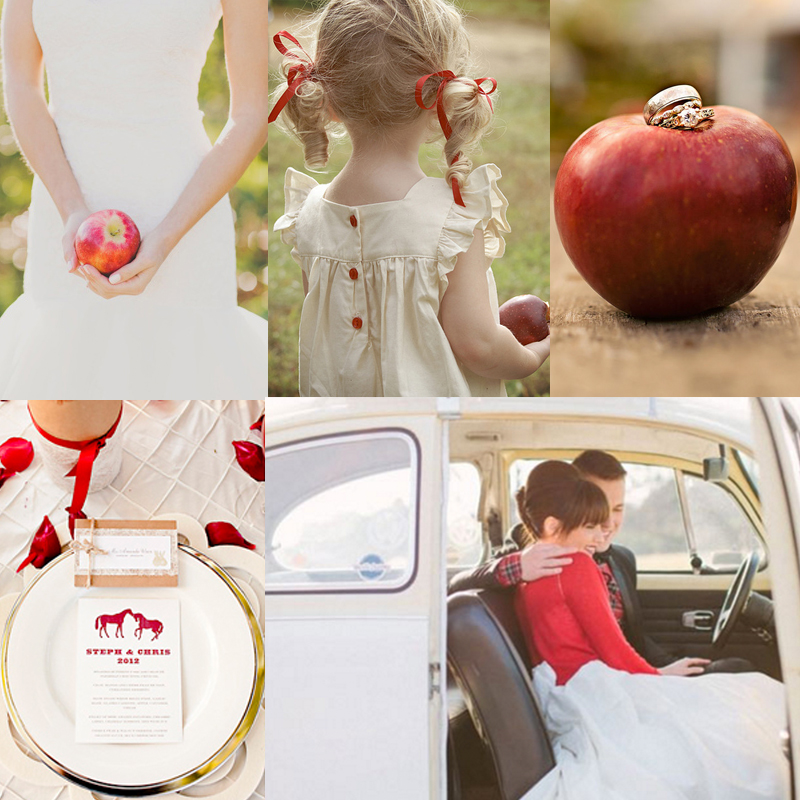 Inspiration for red and apple wedding