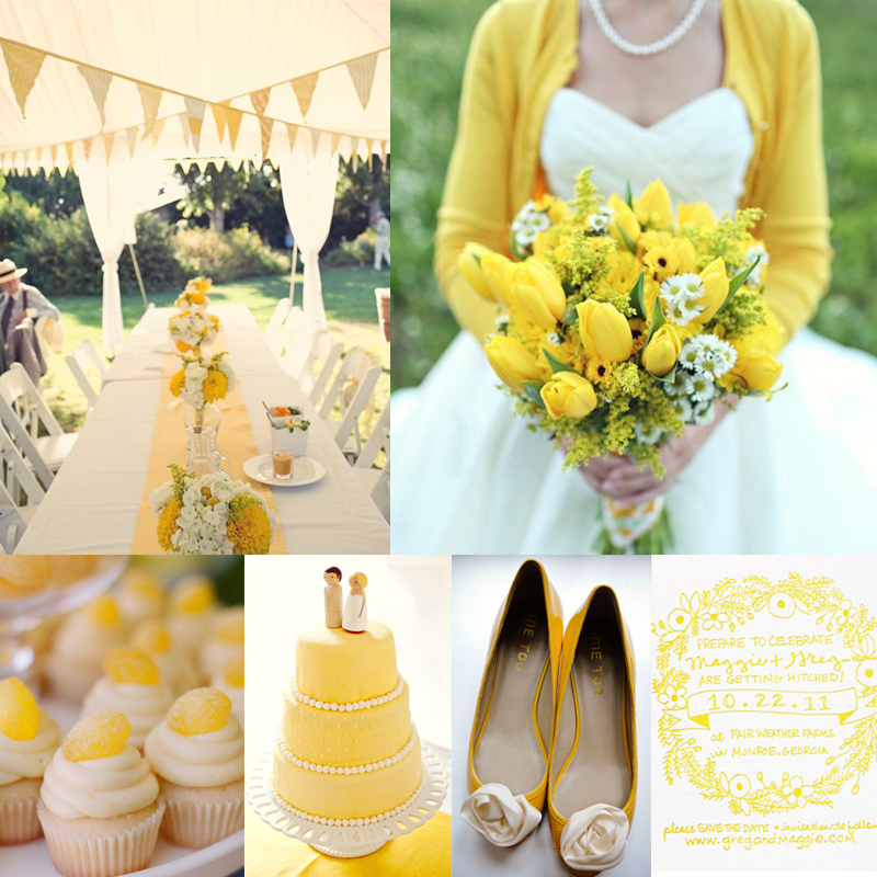 Inspiration for  yellow spring wedding