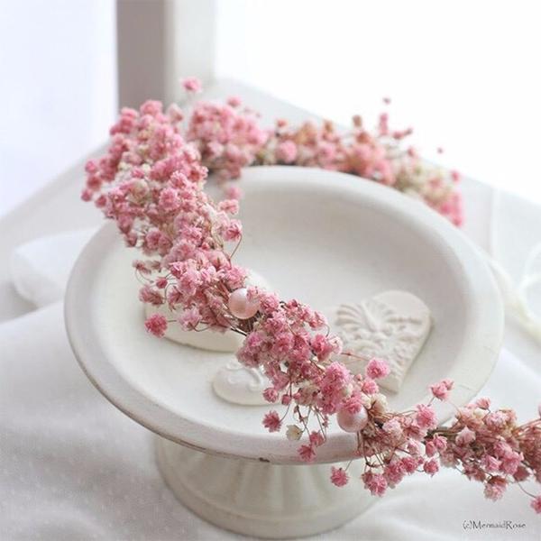 日本で買えるかすみ草で作る花嫁のヘアースタイルグッズ4