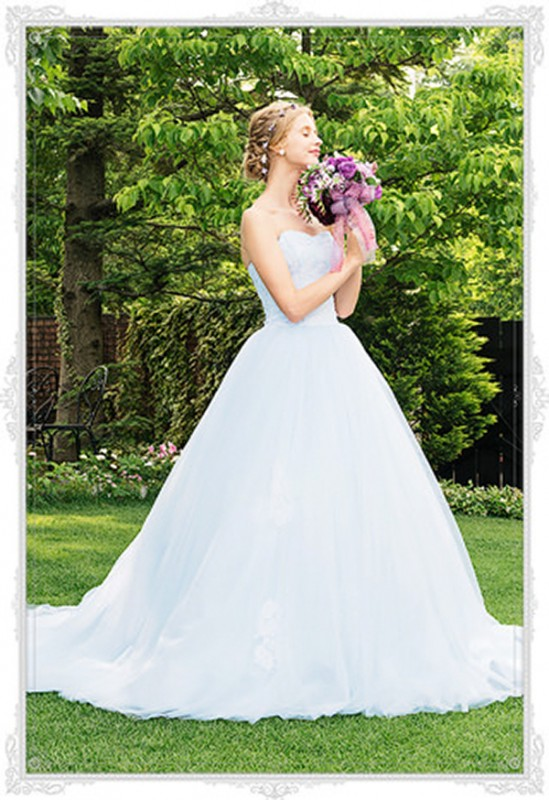 16  blue wedding dresses ideas16