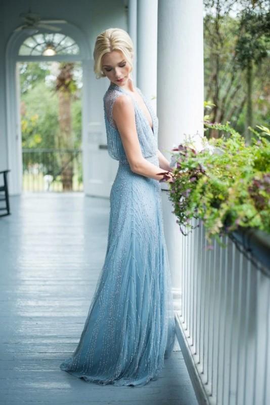 16  blue wedding dresses ideas2