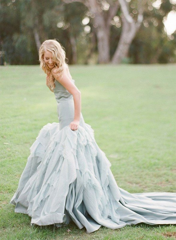 16  blue wedding dresses ideas7