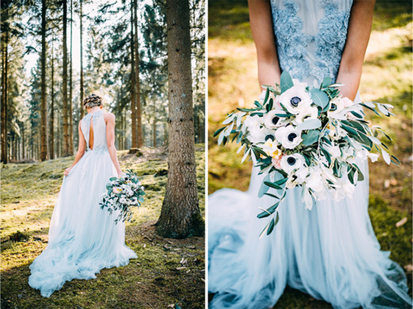 16  blue wedding dresses ideas3