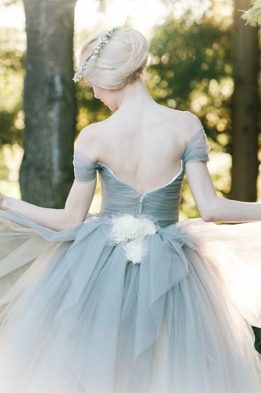 16  blue wedding dresses ideas5
