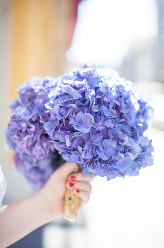 15 hydrangea wedding bouquets ideas11