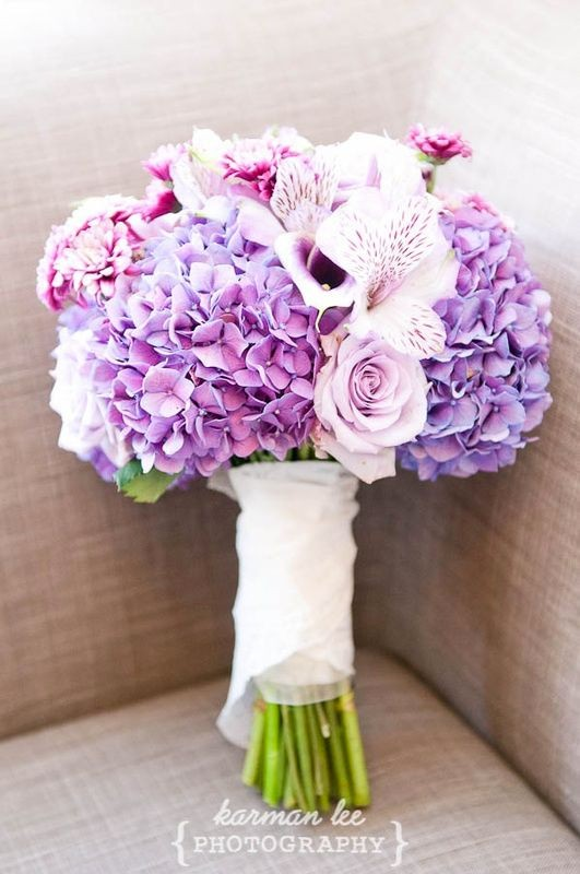 15 hydrangea wedding bouquets ideas12