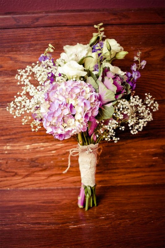 15 hydrangea wedding bouquets ideas8