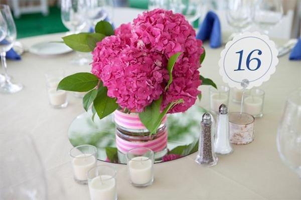 17 hydrangea wedding centerpiece ideas13