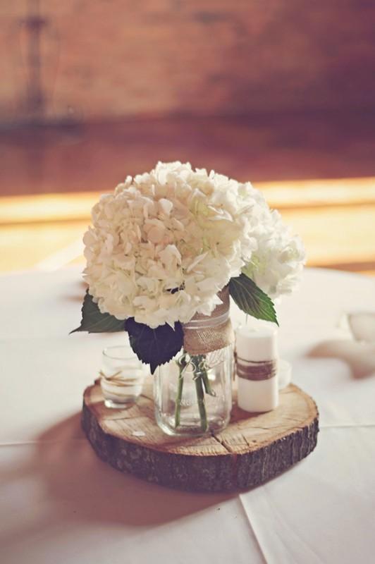 17 hydrangea wedding centerpiece ideas2