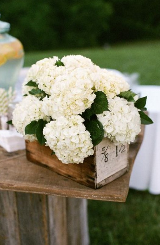 17 hydrangea wedding centerpiece ideas4
