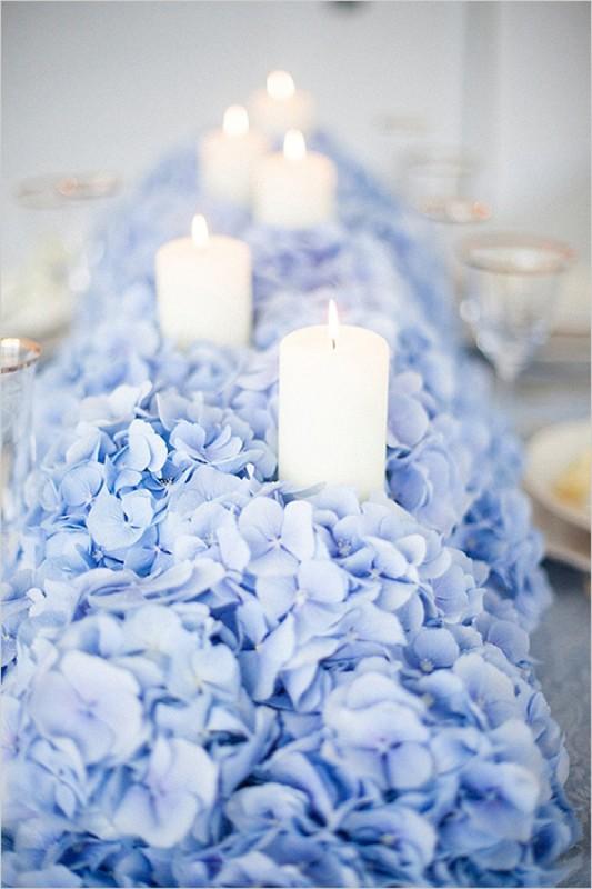 17 hydrangea wedding centerpiece ideas7