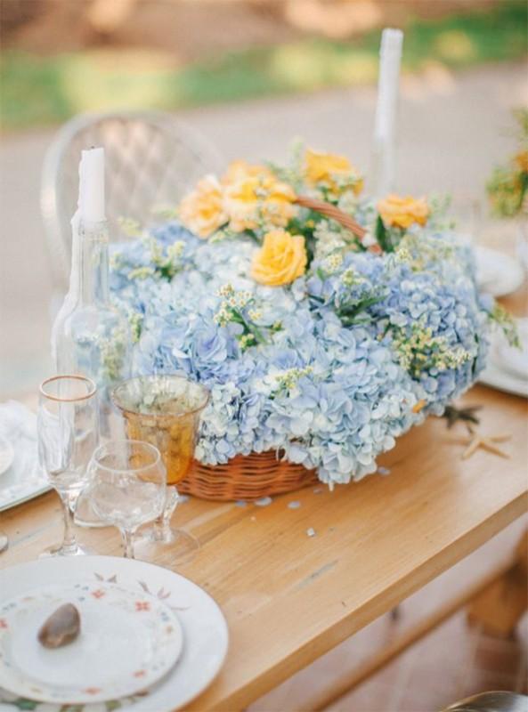 17 hydrangea wedding centerpiece ideas9