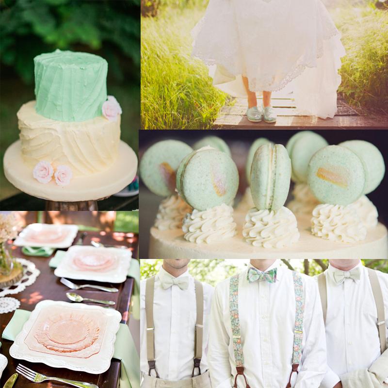 フレッシュなミントカラーのウェディングのアイデア<br /> Fresh Mint Wedding Inspiration