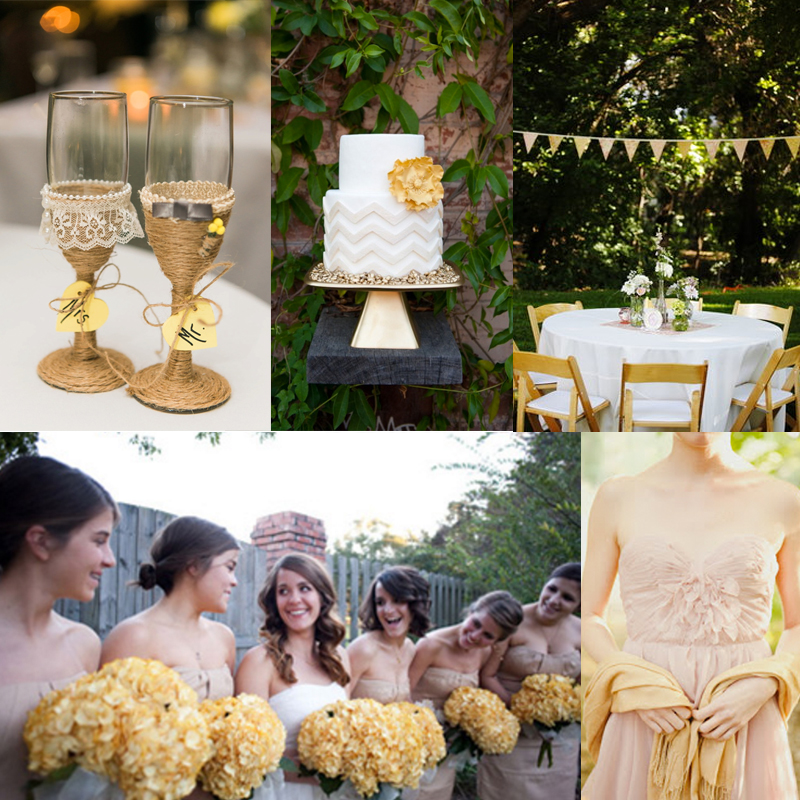 Inspiration for Summer yellow wedding