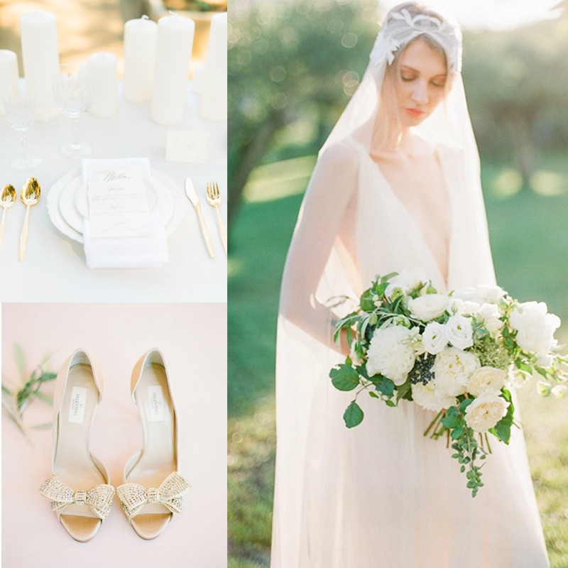 Inspiration for Elegance All White Wedding!1