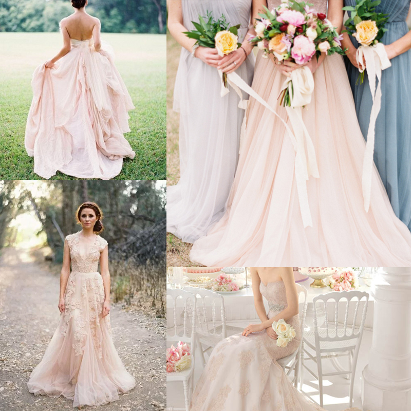 21パターン ブラッシュピンクのウェディングドレスのアイデア<br />21  Blush Pink Wedding Dresses
