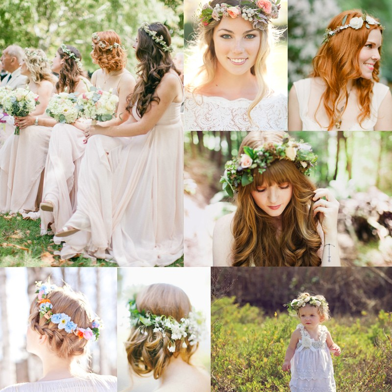 20 Ideas about beautiful flower crowns for brides <br />美しい花冠を使ったブライダルヘア20