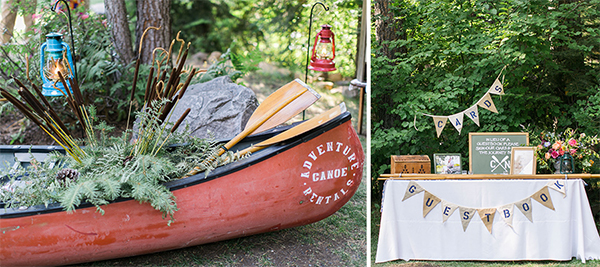 Romantic Canoe Wedding in Forest10