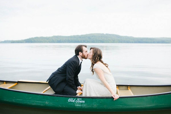 Romantic Canoe Wedding in Forest3