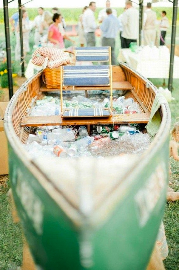 Romantic Canoe Wedding in Forest7