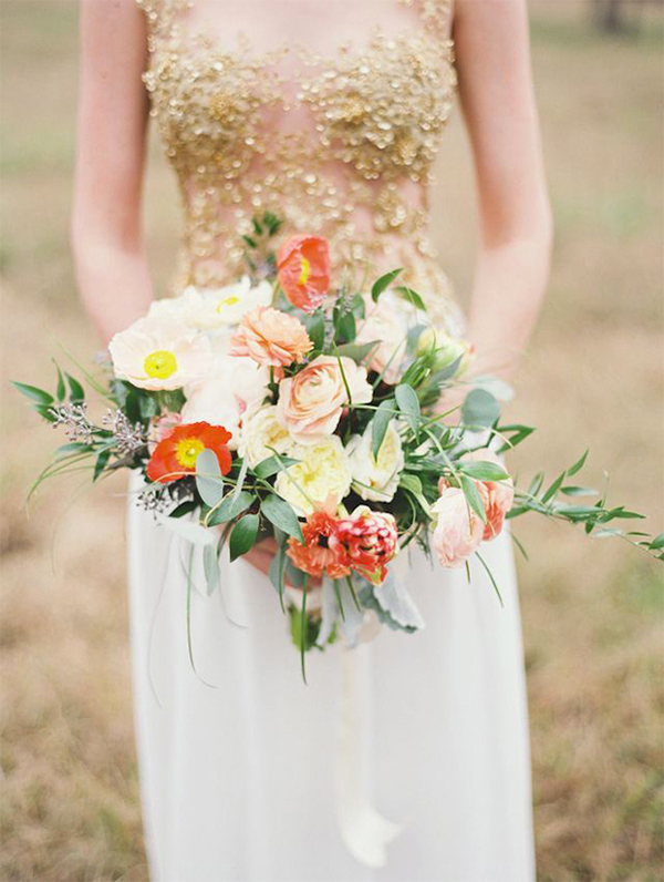 Coral,Orange & Gold wedding inspiration2