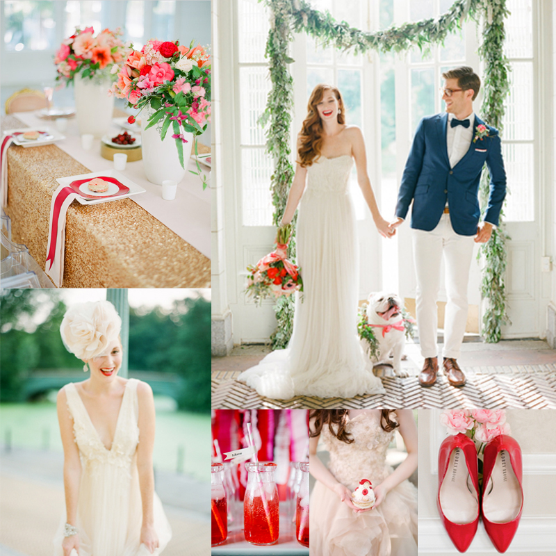 Cute Red and Pink Wedding Ideas<