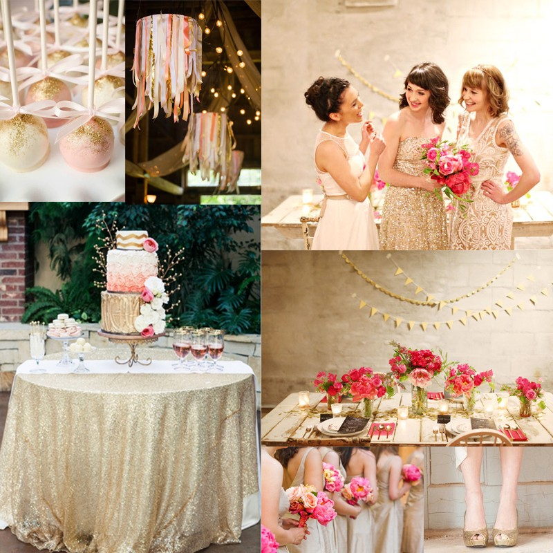 Inspiration for RosePink and Gold Glitter wedding1