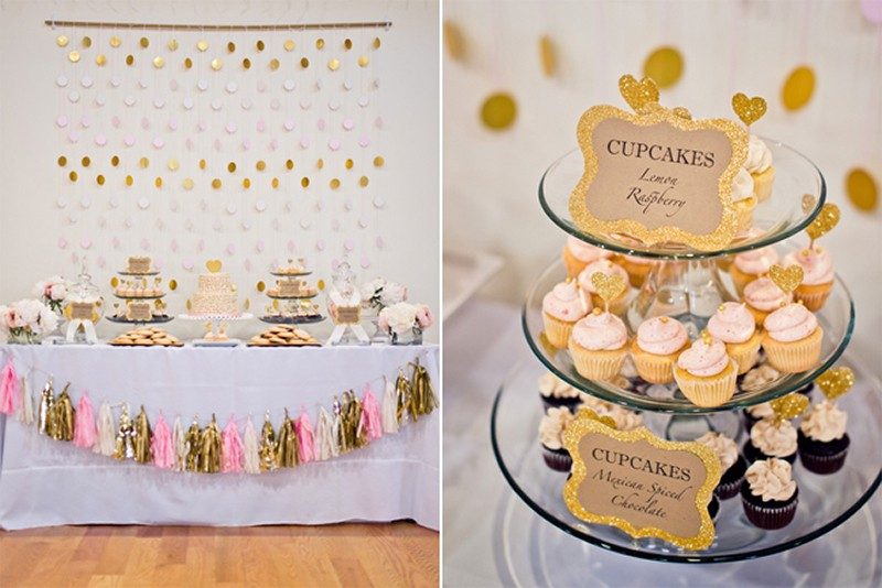 Inspiration for RosePink and Gold Glitter wedding13