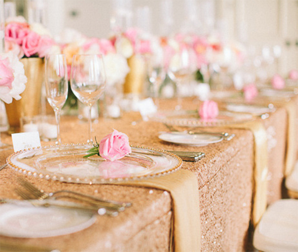 Inspiration for RosePink and Gold Glitter wedding2