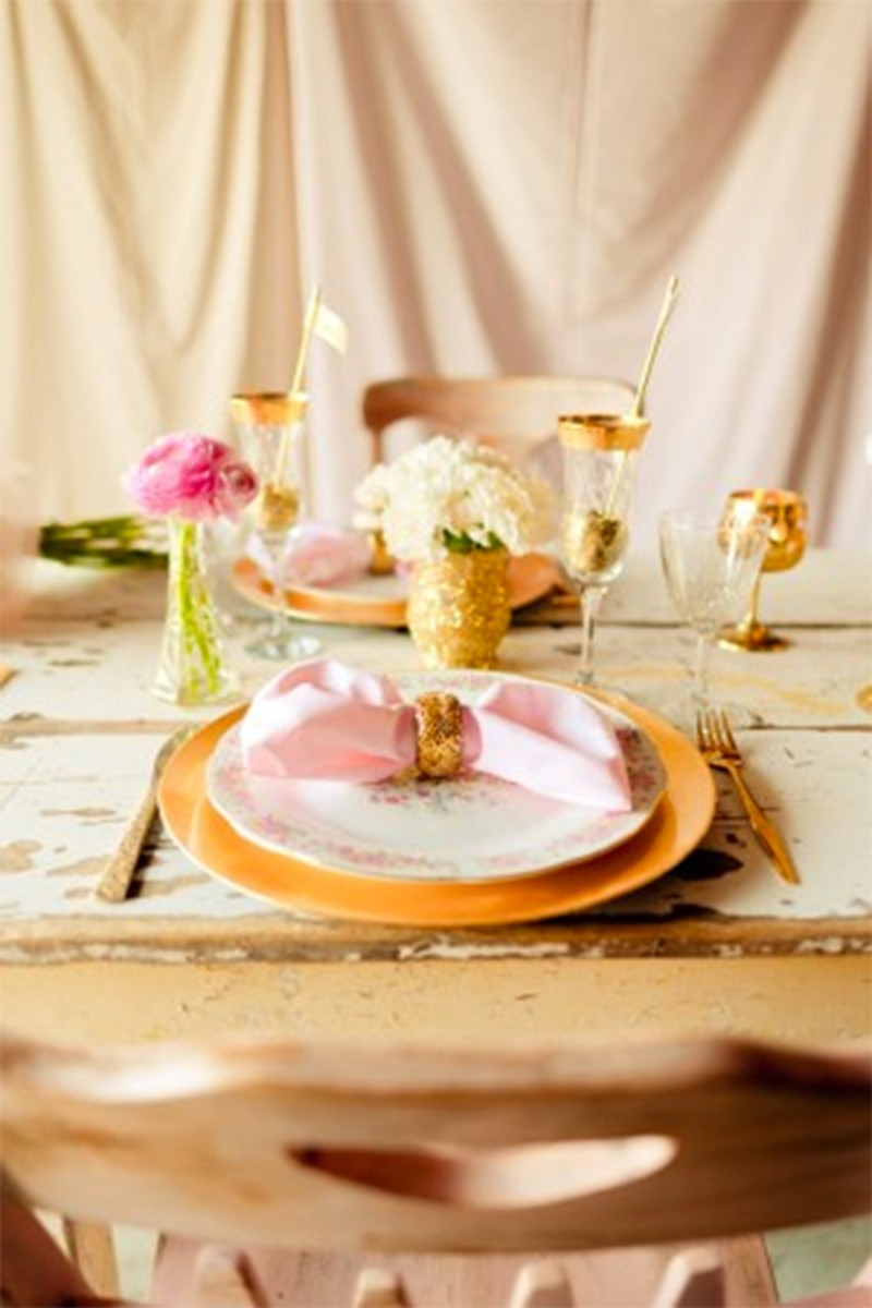 Inspiration for RosePink and Gold Glitter wedding4