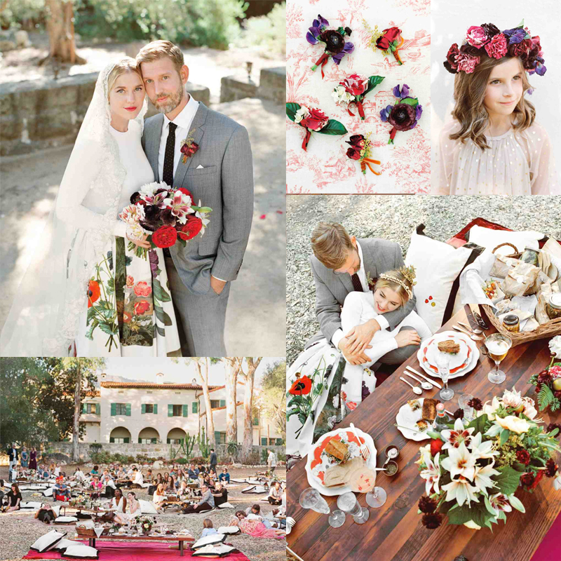 Inspiration for summer picnic wedding with red5