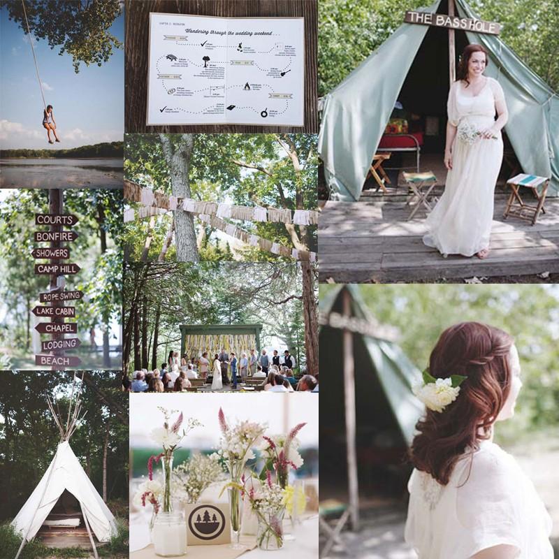 5 Ideas for Summer Camp wedding2