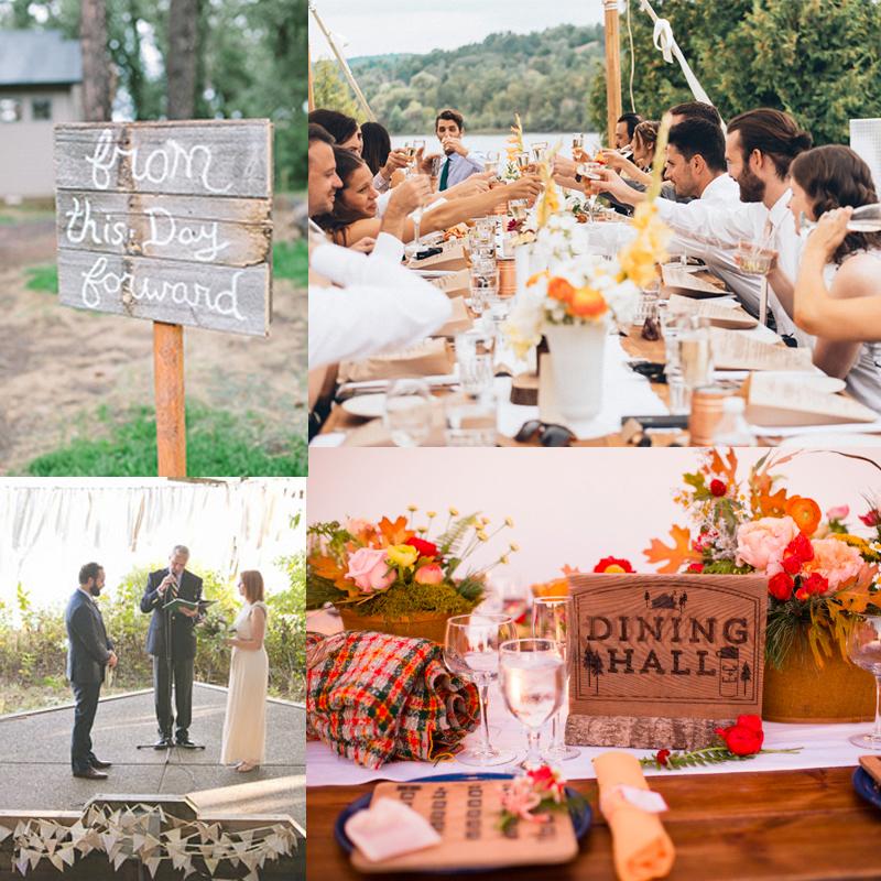 かわいい!キャンプウェディングのアイデア40<br />40 Cute and Fun Camp Wedding Ideas!