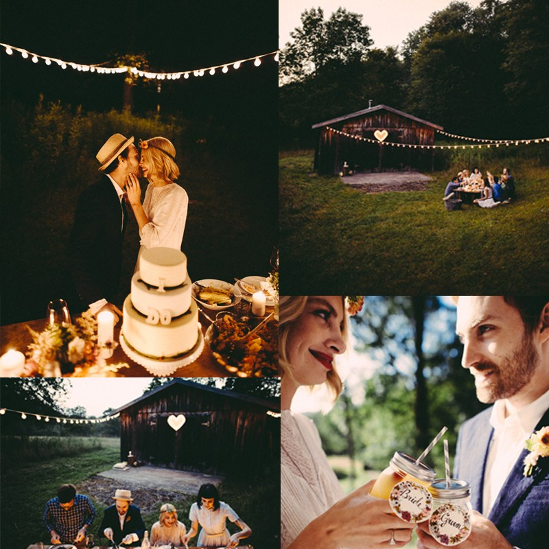 Inspiration for Chic and Vintage picnic wedding in early autumn