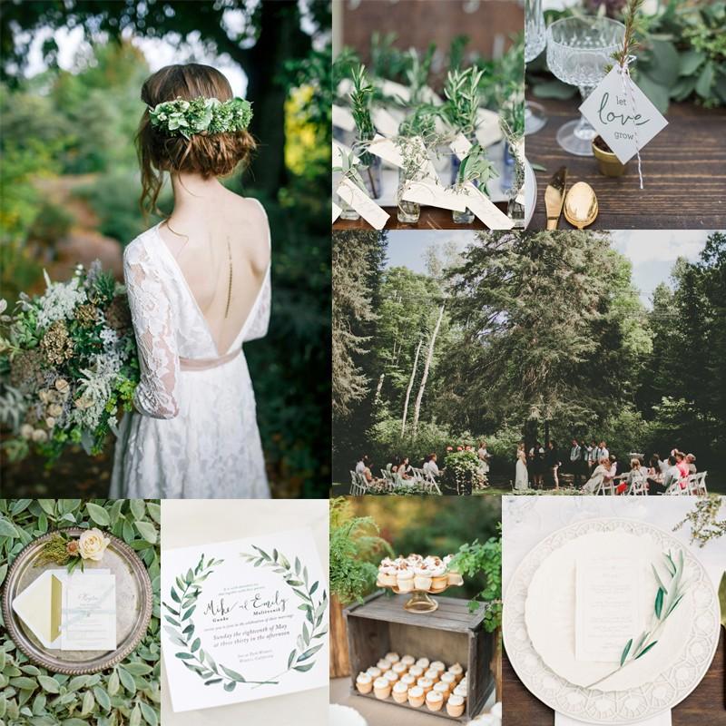 フレッシュな夏のボタニカル&ボーホーウェディングのアイデア<br />Botanical Garden Inspired green boho wedding in summer