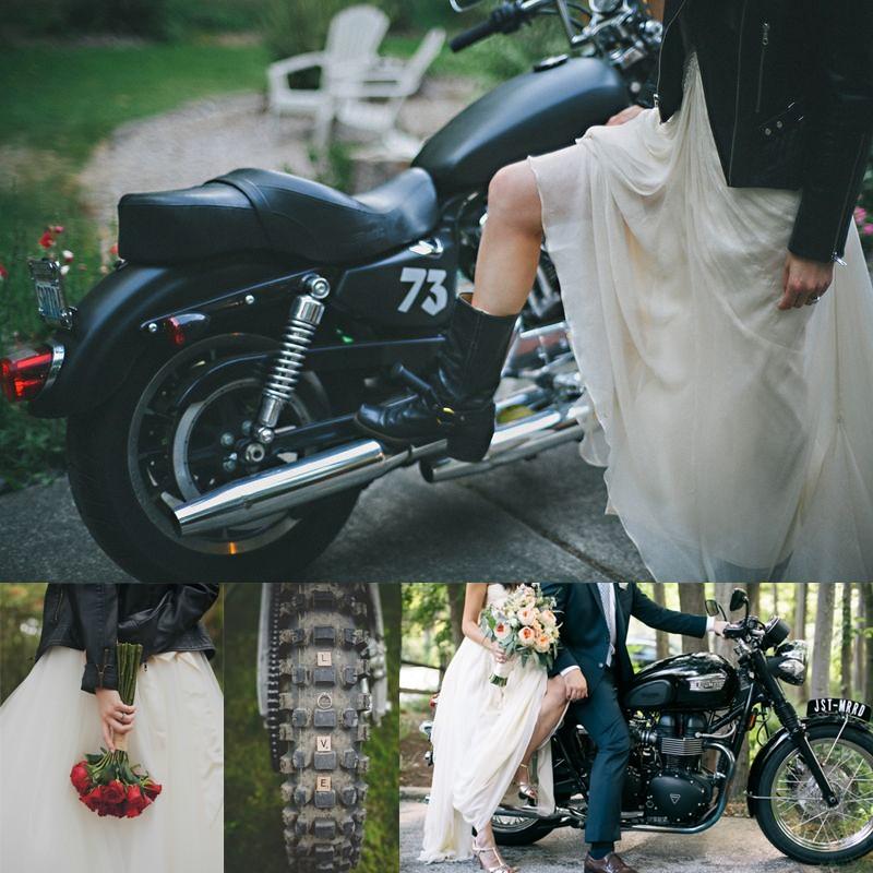 20ライダース×ウェディングドレスのアイデア<br />20 leather jacket with wedding dress ideas