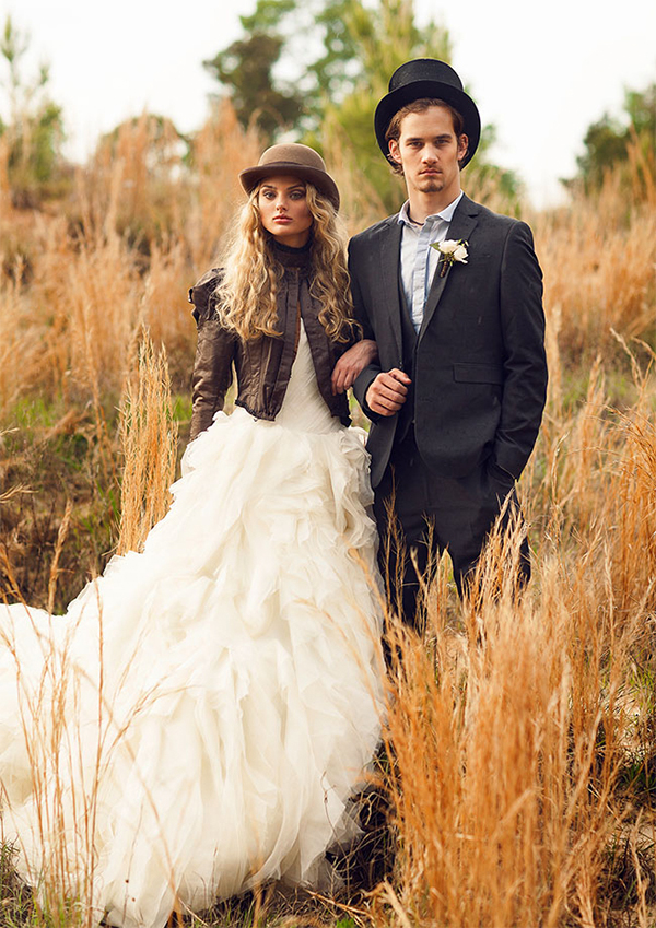 20 leather jacket with wedding dress ideas21