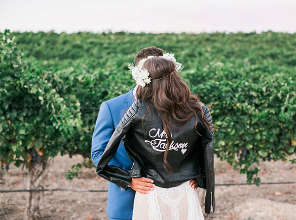 20 leather jacket with wedding dress ideas3