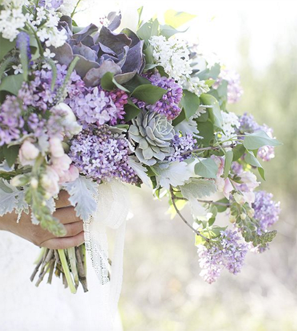 30 Inspiration for french style with lilac wedding4