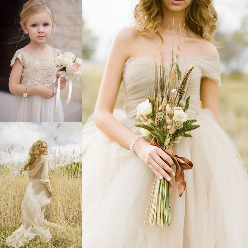 13 Romantic Champagne Wedding Dresses