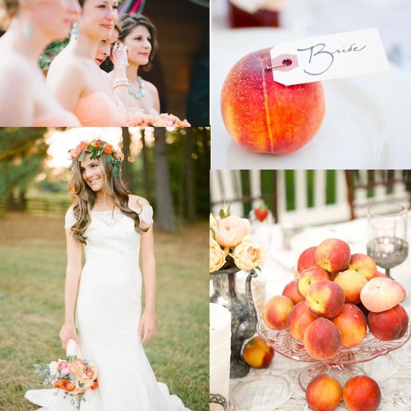 Inspiration for a Fresh peach summer wedding