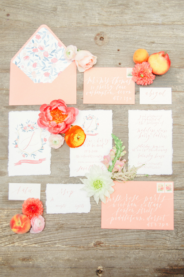Inspiration for a Fresh peach summer wedding16