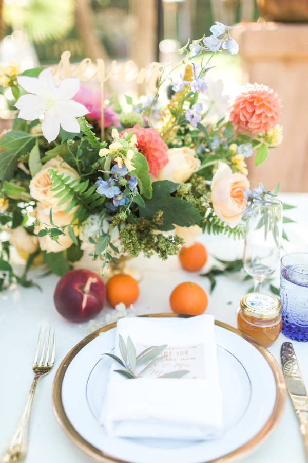 Inspiration for a Fresh peach summer wedding4